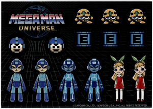 Mega Man Universe promotional stickers