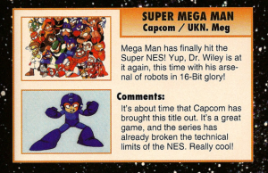 Super Mega Man Preview from EGM #43 February 1993, page 114.