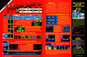 Mega Man 6 preview from EGM #49 August 1993, pages 104-105.