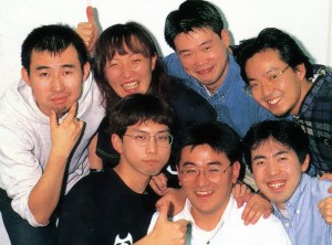 Rockman DASH dev team publicity photo from 1997.