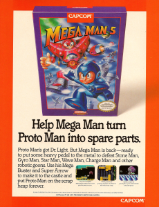 Mega Man 5 US ad appearing in EGM #43 February 1993.