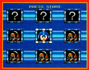 Mega Man 6 demo stage select screen.