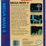 Mega Man 4 US box (back).